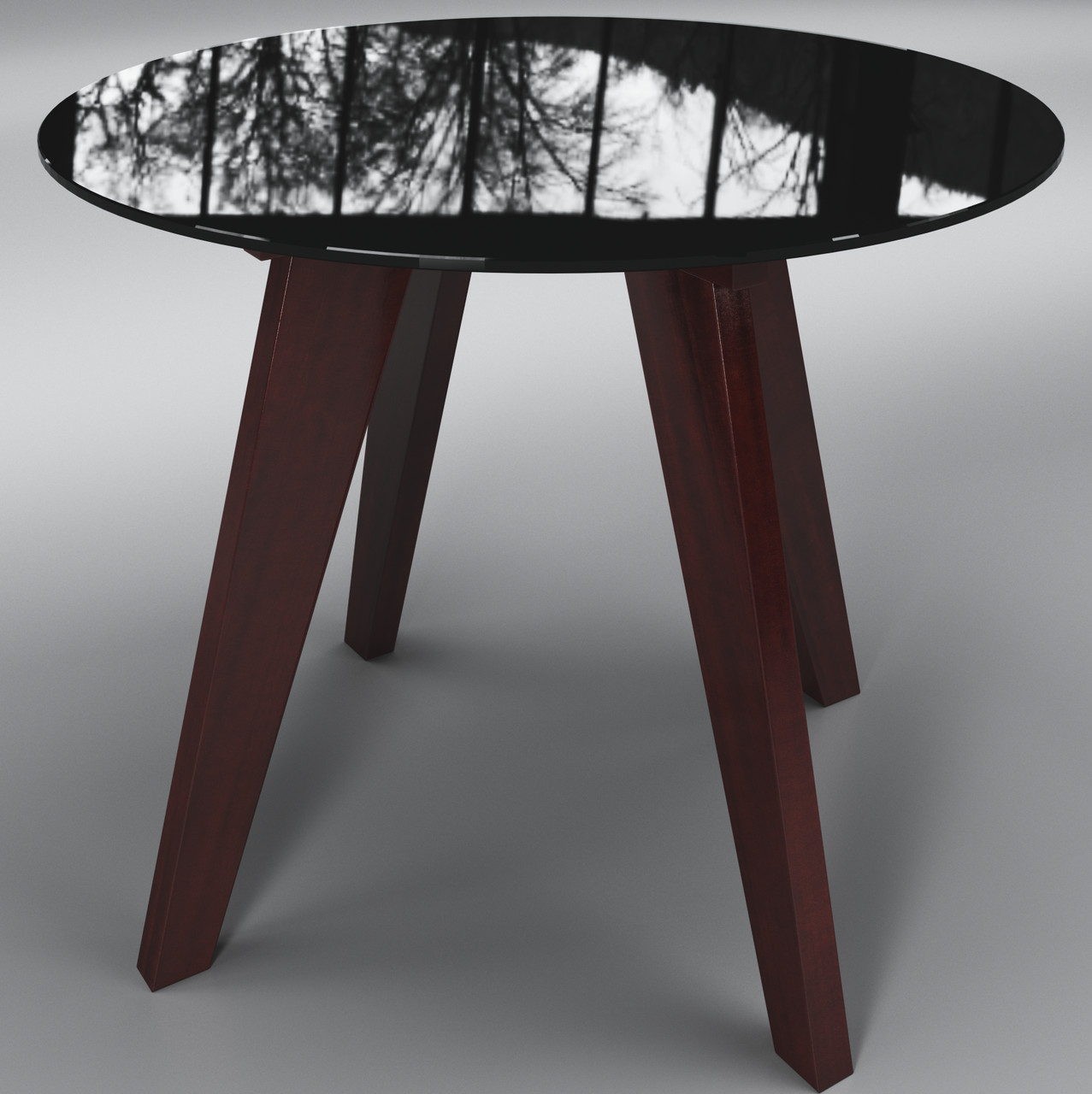 Стол Леонардо круг черно - коричневый ТМ Sentenzo
