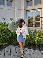 Парасоля жіноча прозора ТОП ПРОДАЖА ЗОНТ женский прозрачный КАЧЕСТВО, фото 1
