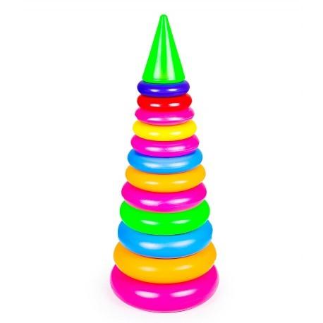 Игрушка пирамидка Бамсик №4 (висота 56 см)