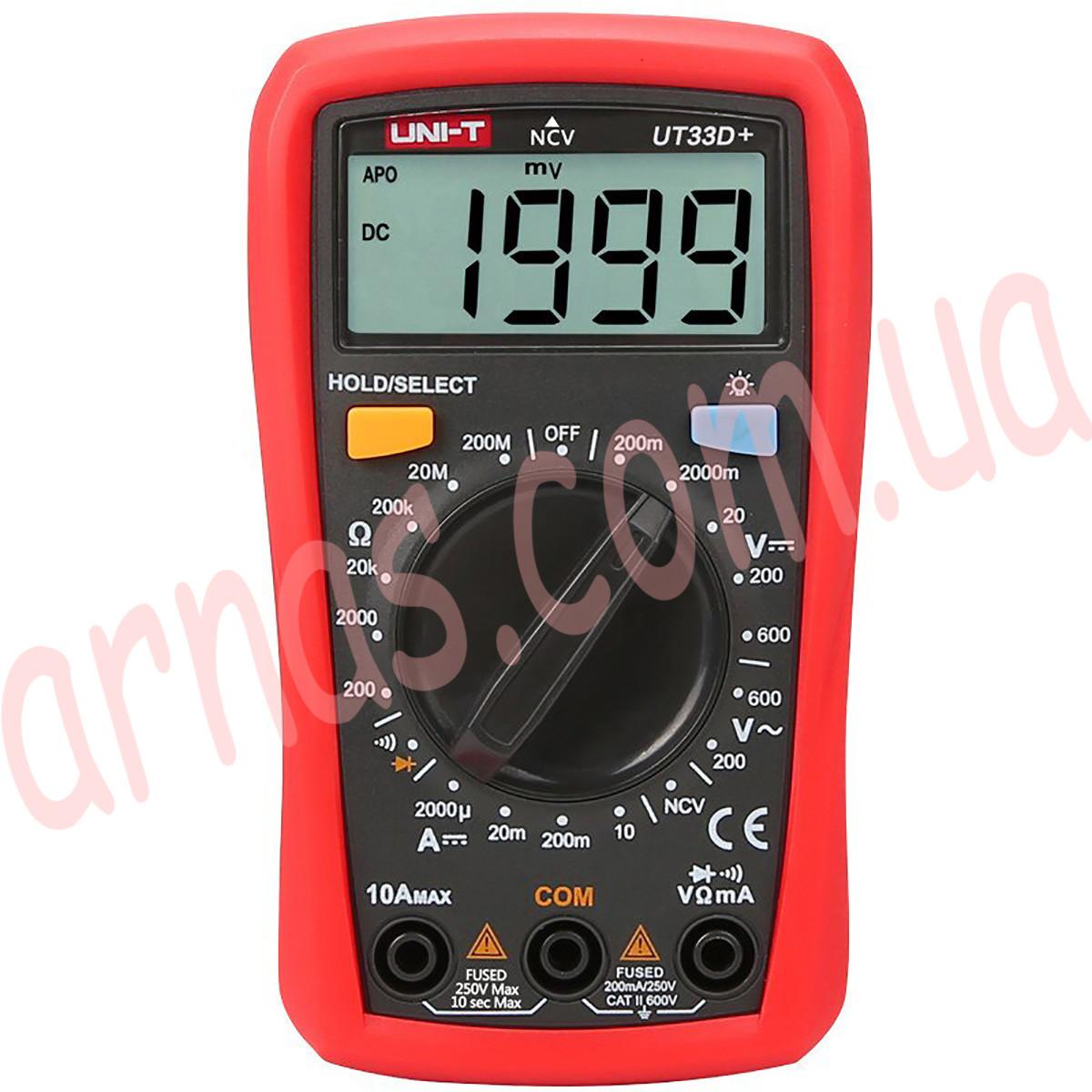 Мультиметр Unit UT33D+ цифровий