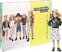 Игровой набор Кукла с аксессуарами Созидаемый мир, светлые вьющиеся волосы Creatable World Deluxe Character, фото 1