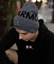 Шапка Under Armour  / шапка андер амур/ шапка женская/шапка мужская/серый, фото 2