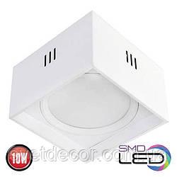 Светодиодный светильник накладной точечный квадрат Horoz Electric Sandra-SQ10 LED 10W 4200К белый