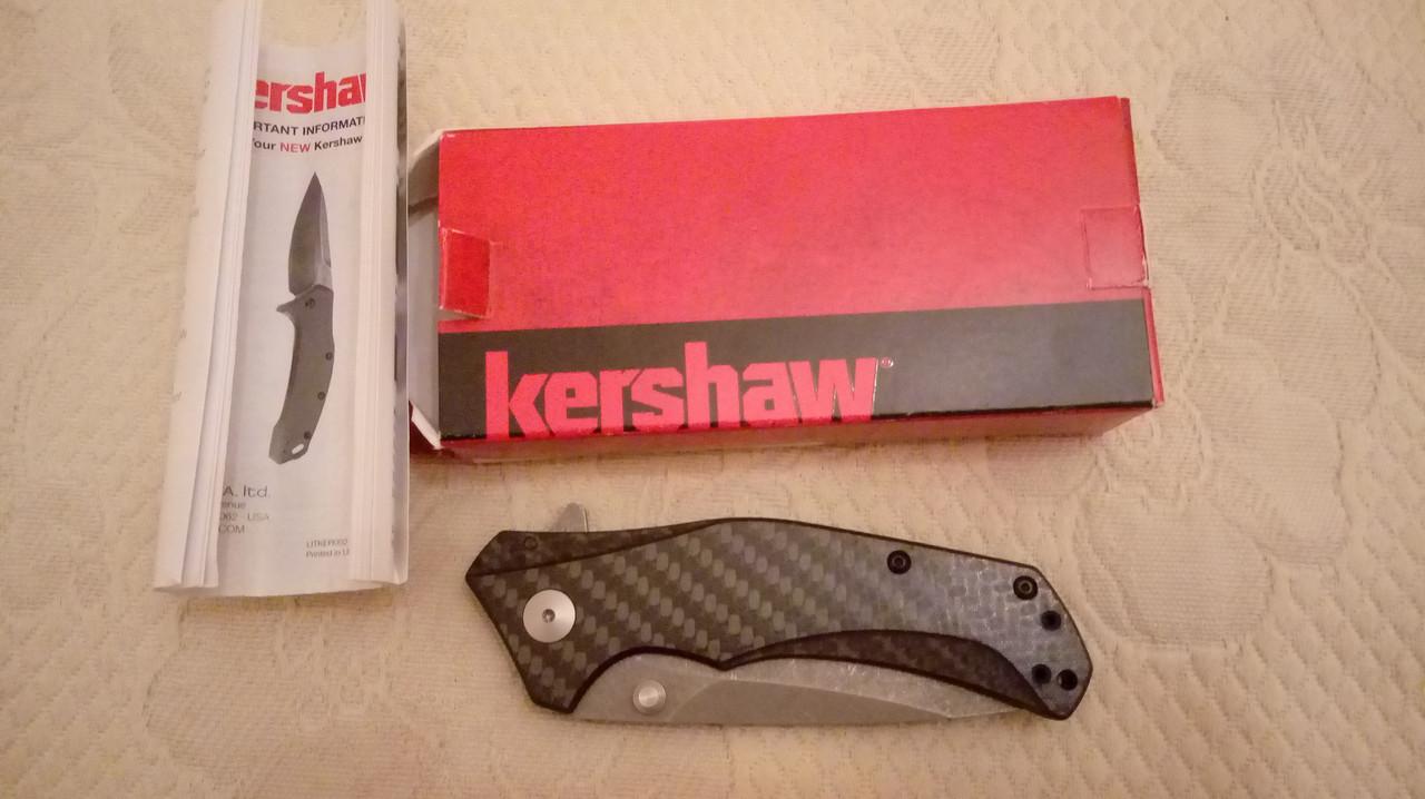 Полуавтоматический складной нож  Kershaw Knockout сталь M390 Sprint Run