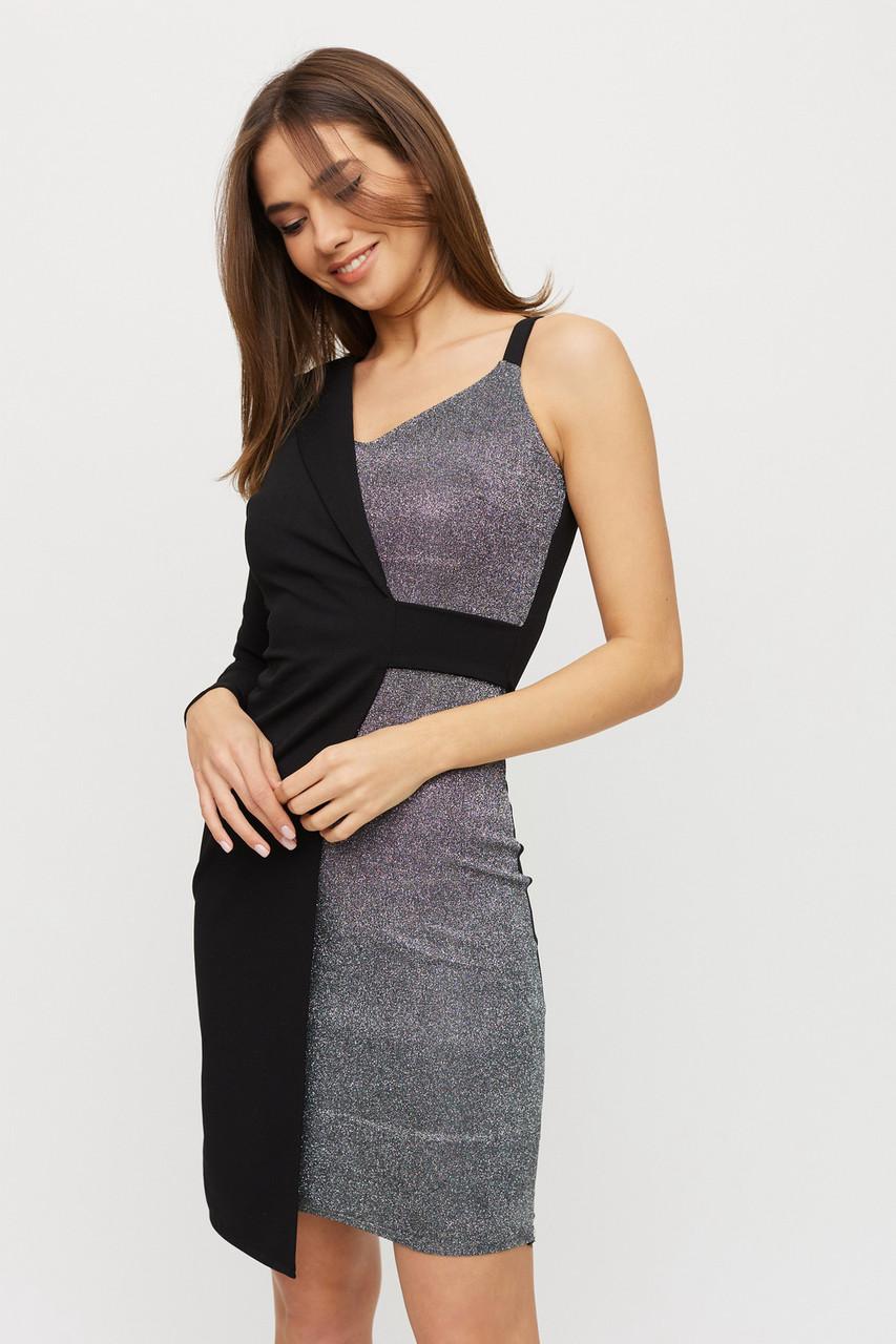 Клубне асиметричне плаття з одним рукавом