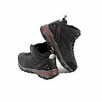 Мужские зимние кроссовки ботинки на шнуровке замшевые синие