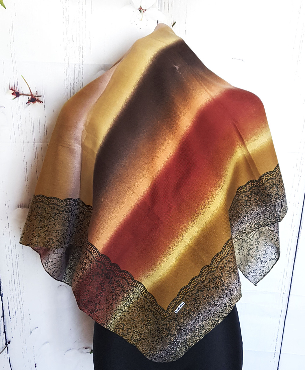 Платок женский демисезонный шерсть-/вискоза Шерри