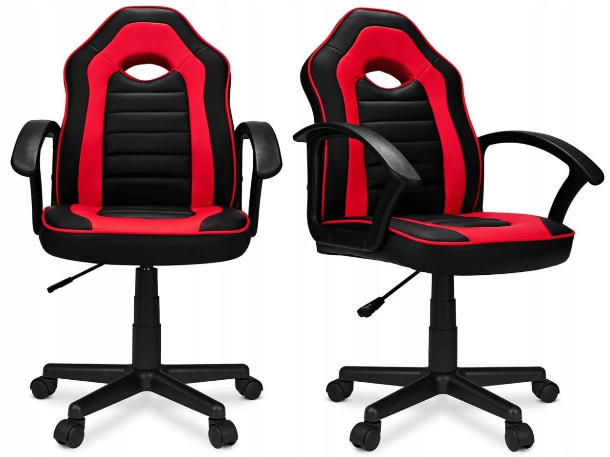 Кресло компьютерное спортивное Home-Fest ELIS Черно-красное Нагрузка 100 кг