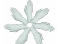 """Перчатки cмотровые латексные """"MEDICARE"""" (нестерильные, текстурированные, с пудрой) размер L"""