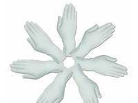 """Перчатки cмотровые латексные """"MEDICARE"""" (нестерильные, текстурированные, с пудрой) размер S"""