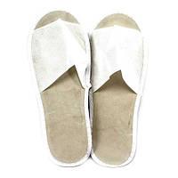 Тапочки одноразовые флизелиновые с отрытым носком