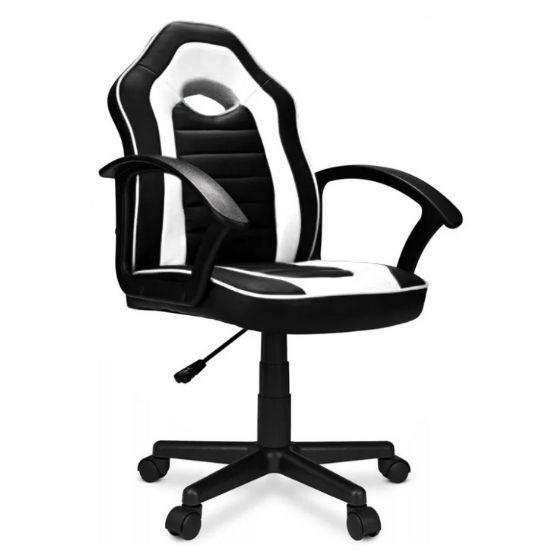 Крісло комп'ютерне спортивне STAFF Чорно-біле Навантаження 100 кг