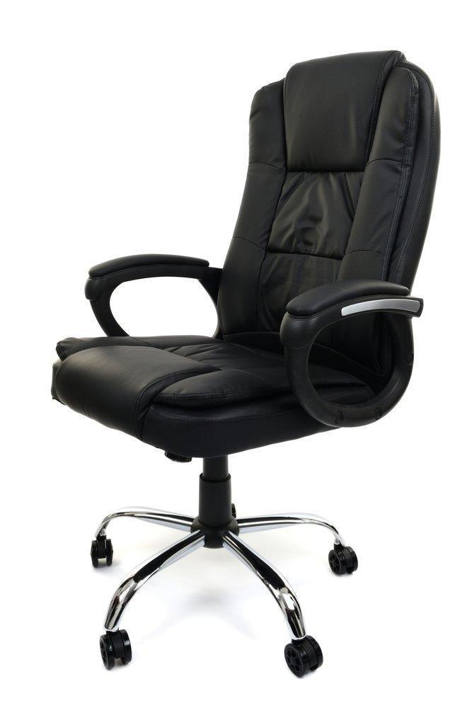 """Кресло офисное компьютерное AMBIENTE Черное """"Нагрузка 130 кг """" ПОЛЬША"""