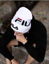 Шапка Fila / шапка філа/ шапка жіноча/шапка чоловіча/білий, фото 2