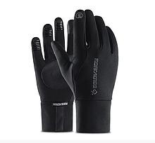 Перчатки демисезон мужские подростковые сенсорные спорт черные размер М