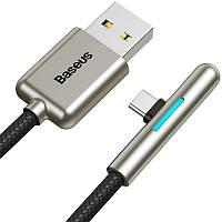 Кабель для заряди и передачи данных Baseus Iridescent Lamp Mobile Game Type-C Black 1m