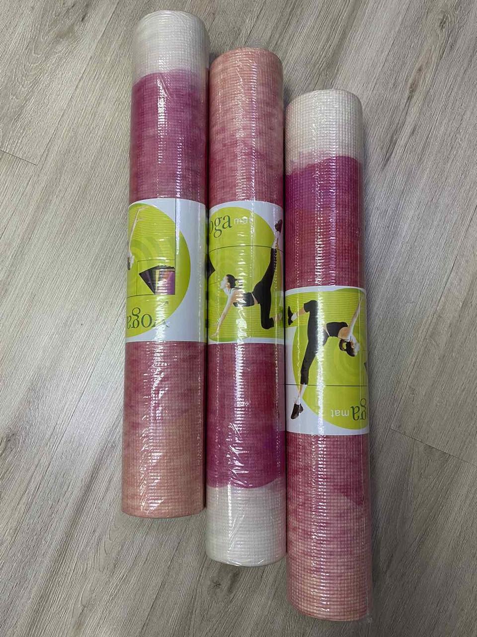 Коврик для йоги и фитнеса MS-1847-2 173х61 см, 4мм, йогамат