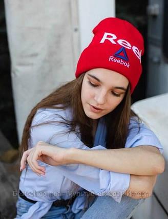 Шапка reebok / шапка рибок/ шапка женская/шапка мужская/красный, фото 2