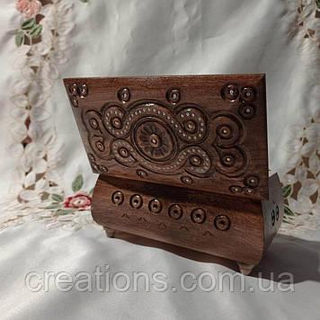 Шкатулка деревянная резная16*9*9 для украшений, ручная работа