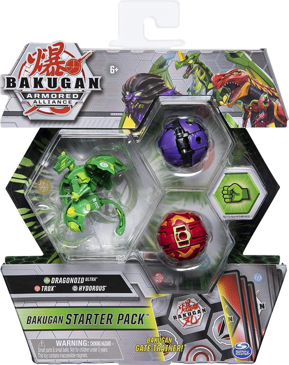 Стартовый набор из 3 бакуганов Bakugan Starter Pack 3-Pack Armored Allian