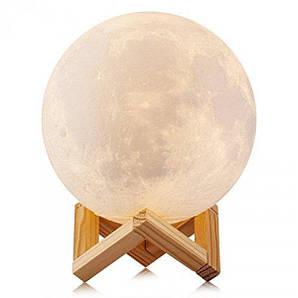 Лампа місяць 3D Moon Lamp Настільний світильник місяць на сенсорному управлінні 20см