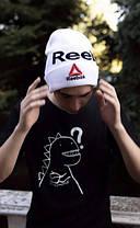 Шапка reebok / шапка рибок / шапка женская/шапка мужская/белый, фото 2