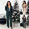 Р 50-60 Костюм трійка-подовжена жилет, блуза і брюки Батал 22823