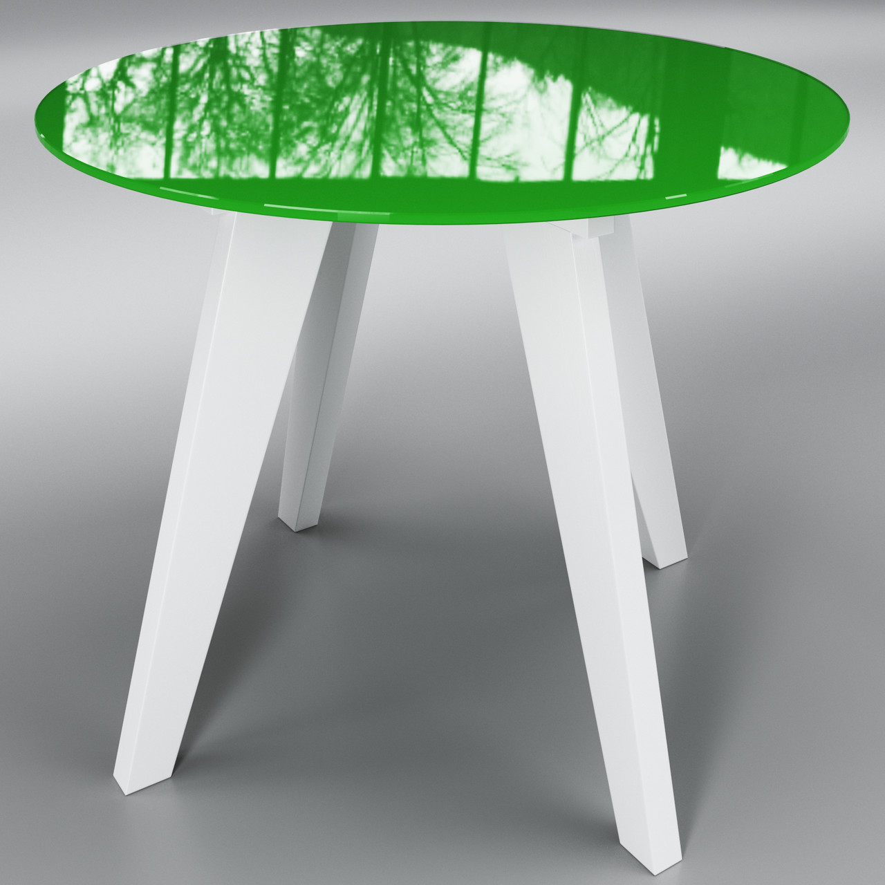 Стіл Леонардо коло зелено - білий ТМ Sentenzo