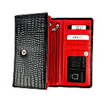 Жіночий гаманець шкіряний Karya 1088-045 чорний, фото 5