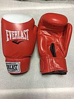 Перчатки бокс Everlast красные КОЖА