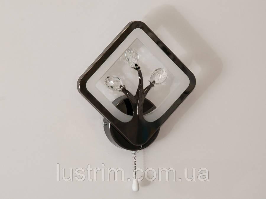 Светодиодное бра, цвет чёрный хром, 18W