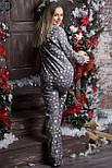 Пижама фланелевая П701 Звезды на сером, фото 2