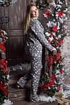 Пижама фланелевая П701 Звезды на сером, фото 3