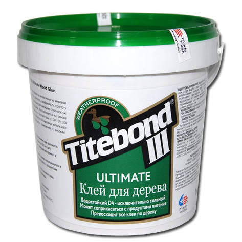Клей для дерева Titebond III Ultimate D4 Промтара 1кг, 5кг, 10кг, 20кг, фото 2