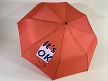 Яскравий жіночий парасольку напівавтомат поліестер/карбон червоний ( в 11-ти кольорах) Арт.231 Mario (Китай)