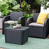 Комплект садовой мебели Allibert by Keter Novara Lounge Set искусственный ротанг ( Novara Set ), фото 8