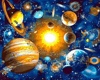 Картина по номерам Солнечная система Mariposa 40 х 50 см (MR-Q2231)