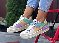 Женские кроссовки в стиле Nike Air Force 1 Shadow разноцветные / женские кроссовки найк аир форс