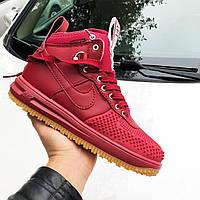 Мужские кроссовки Nike Lunar Force 1 Duckboot красные, высокие кроссовки найк лунар форс