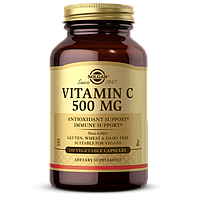 Витамин С, 500 мг, Солгар, Vitamin C, 500 mg, Solgar, 500 мг, 100 вегетарианских капсул, USA, Витамины из США