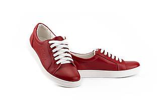 Женские кеды кожаные весна/осень красные Yuves 590 red