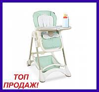 Детский стульчик для кормления ME 1066 OSCAR MINT зеленый