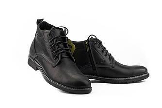 Мужские ботинки кожаные зимние черные Botus 5