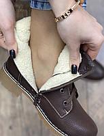 Ботинки женские зимние 6 пар в ящике коричневого цвета 36-41, фото 4