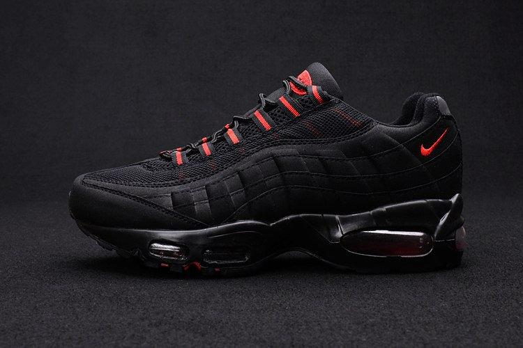 Женские кроссовки Nike Air Max 95 Black Red Черные