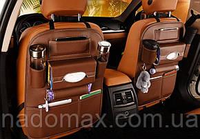 Органайзер автомобильный из экокожи на спинку сидения, фото 2
