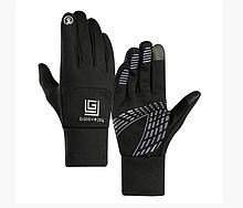 Перчатки мужские подростковые сенсорные спорт черные размер М