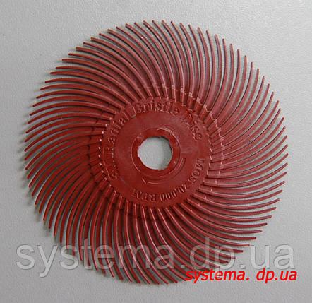 3M 30128 Scotch-Brite™ Bristle RB-ZB - Радиальная щетка 76х9 мм, P220, красная, фото 2