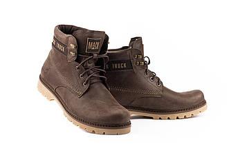 Мужские ботинки кожаные зимние коричневые Botus 21 Mack Truck