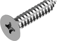 Саморезы по металлу с потайной головкой, крест. шлиц ГОСТ 11652-80